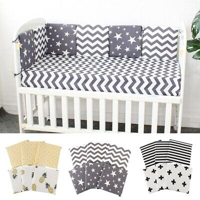 6Pcs/ Set Baby Bedding Set Toddler Crib Bumper Safety Bed Cot Protector Cushion