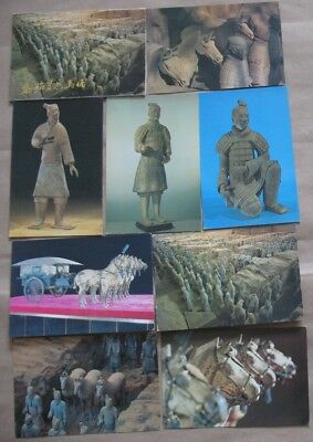 Chinese Post Card Set 10 Photo China Monument Soldier Terracotta Army Clay War