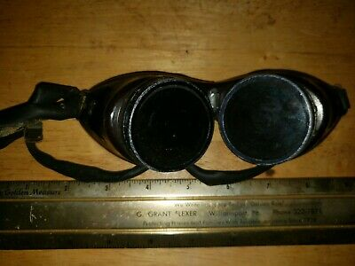 2 Pair Used Vintage Safety Welding Goggles Steampunk  1 Cesco And 1 Unmarked