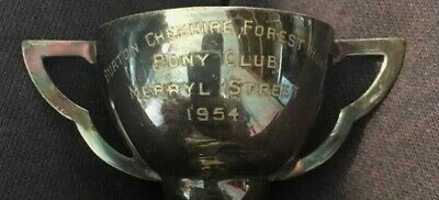 1954 Hunting Burton Cheshire Forest Hunt vintage silver plate trophy, trophies