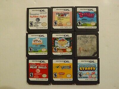 Nintendo DS (Lot of 9) Games, Spider Man 3, Starfy