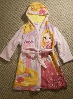 Disney Store Tangled Rapunzel Girls Pink Dressing Gown Age 7-8 years