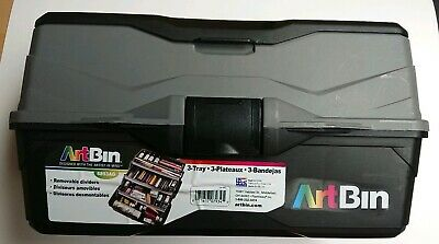 ArtBin Three Tray Art Supply Box Removable Dividers 6893AG