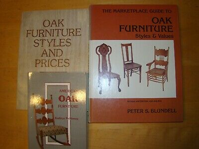 Lot 3 Books On American Antique Oak Furniture Styles Prices Values
