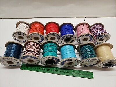 Rexlace Plastic Craft Cord Lamp Shade Lacing Lot of 12 100 YD Partials