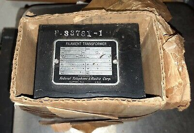 NOS Federal Telephone and Radio Corp filament Transformer