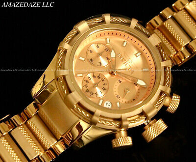 New Invicta Women 18K Rose Gold Plated Stainless Steel Bolt Chronograph Watch !!