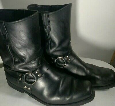 Double H Mens 16EE Black Leather Harness Biker Riding Winter Boots