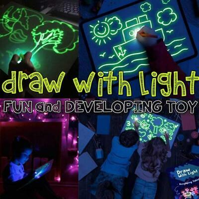 Light Up Drawing Fluorescent Magic Writing Board Kit Kids Fun And Developing M