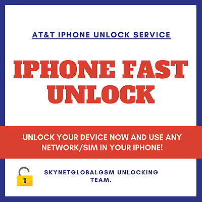 AT&T Unlock Service iPhone 5, 6, 7, 8, X XS, XR, 11 (+Active on Another Account)