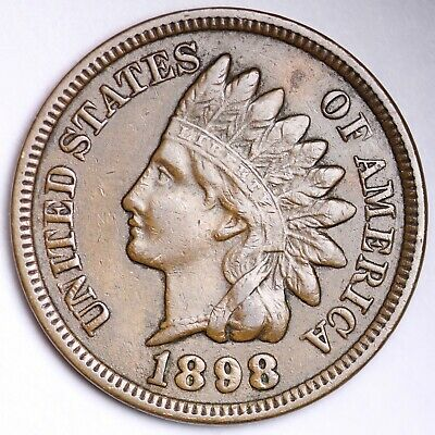 1898 Indian Head Cent Penny Good GD
