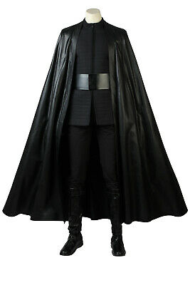 Star Wars 8 The Last Jedi Kylo Ren Full set Cosplay Costume Halloween + Shoes