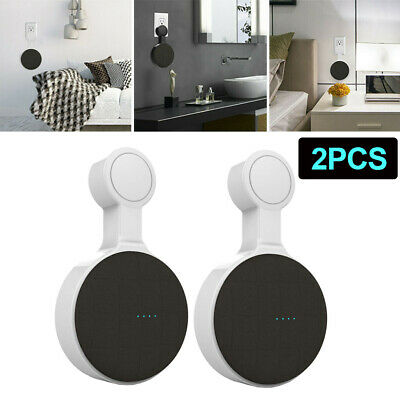 2pcs Wall Mount Holder Hanger Stand For Google Audio Home Mini Voice US plug