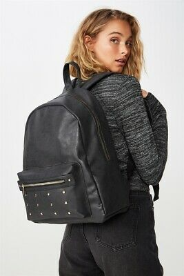 Typo Unisex Commuter Backpack Bags  In  Black