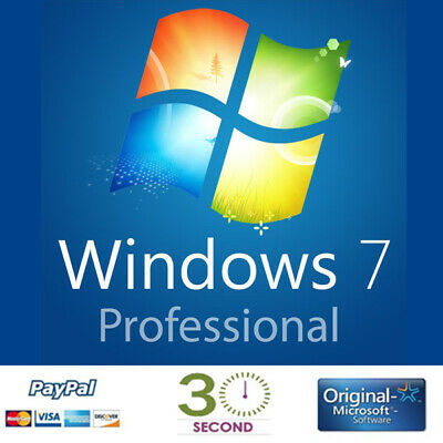 Windows 7 Pro Professional - 32-64 bit - Multilingual - Guaranteed 100%