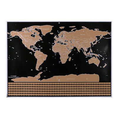 Scratch Off Map Interactive Vacation Poster World Travel Maps Poster C3Q8