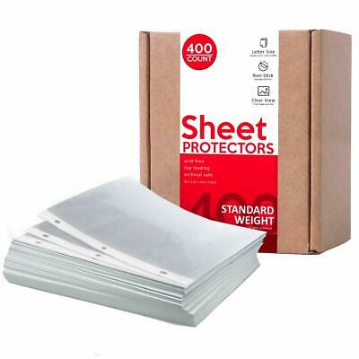 Huntz Standard Weight Clear Sheet Protectors - Letter Size 400 Pack