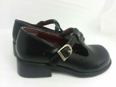 Luccini Girls Leather Mary Jane Flats with Trim