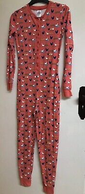 Mini Boden Girls All In One Pyjamas Aged 13 Years - Immaculate Duck Farm Coral