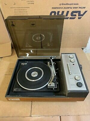 BSR P128 TURNTABLE Record Player Vintage PYE Black Box Casing A1 2