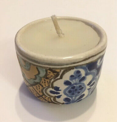 "🇲🇽🕯Genuine Talavera Candle - Mexican Pottery - Hand Made Painted - 2"" Small"