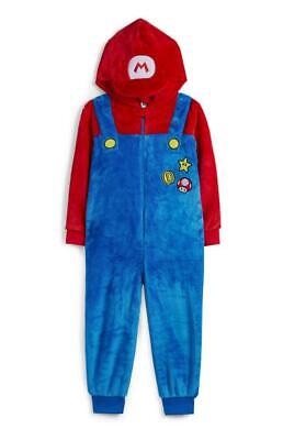 Official NINTENDO SUPER MARIO Boys Girls Kids Onesie Costume PJs Age 4-5 BNWT