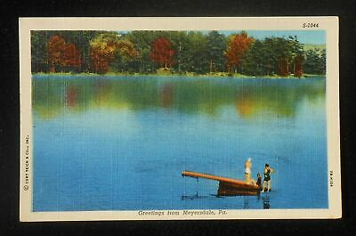 1940s Swimmers Greetings from Meyersdale PA Somerset Co Postcard Pennsylvania