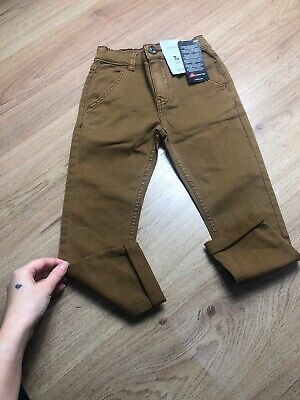 New Yu Kids Boy Jeans Bottoms Trousers Brown Size 4 Years