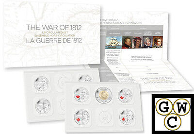 2013 'War of 1812' Special-Edition Uncirculated Coin Set (13196)