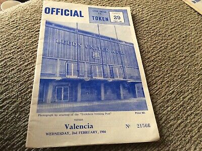 LEEDS UNITED V VALENCIA, WEDNESDAY 2nd FEBRUARY 1966, inter city fairs cup