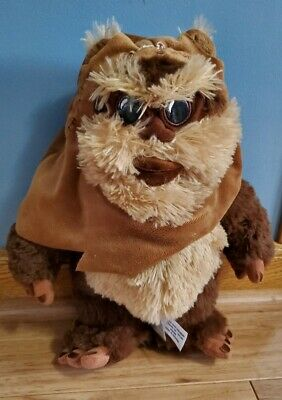 "Disney Store Exclusive Star Wars Ewok Plush Wicket 13"" Tall Jedi Skywalker"