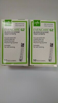 EvenCare G2 Blood Glucose Diabetic Test Strips Exp 9/20 Free Shipping!