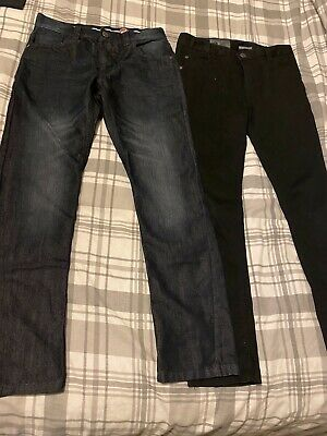 Boys Slim Leg Jeans Skinny Black Blue Zoo John Rocha Worn Once 12 Years