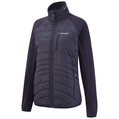 Craghoppers Womens Maddalena Hybrid Jacket SCWN018 Navy and Wildberry