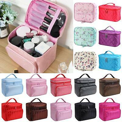 Ladies Travel Large Make Up Bags Vanity Case Cosmetic Nail Tech Storage Beauty