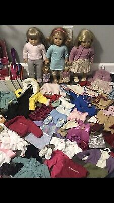 Huge Lot American Girl Doll Dolls Clothes Books Shoes RETIRED Just Like Me Kit