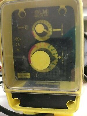 $ LMI Milton Roy Electromagnetic Dosing Pump Model AA151-392SI  Power On Tested