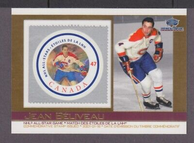 Canada Post All-Star Jean Beliveau #07 Commemorative Stamp Issued 2001-01-18