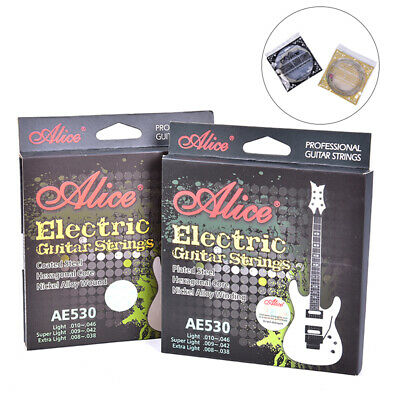 AE530 Electric Guitar Strings 1st-6th Nickel Alloy Full Set Hexagonal Core J SE
