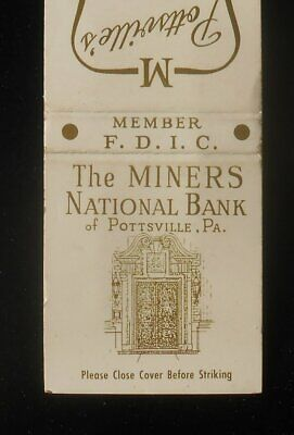 1960s The Miners National Bank Finest Banking Motor Court Pottsville PA MB