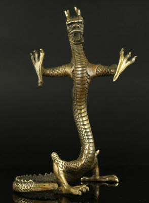 Collectible brass Handwork Carved Dragon Statue
