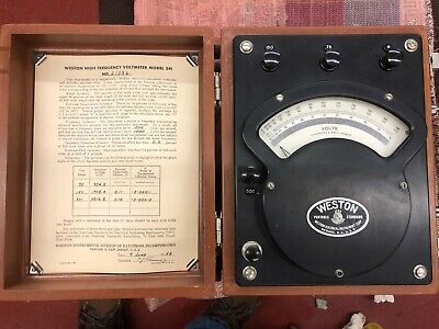 Vintage Weston 341 DC/AC Voltmeter 0-120 Volt electrical instrument Steampunk