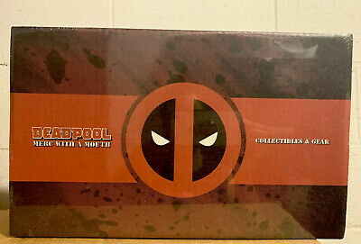 Loot Crate Marvel DEADPOOL MERC WITH A MOUTH BOX Collectible Socks Pin Gear