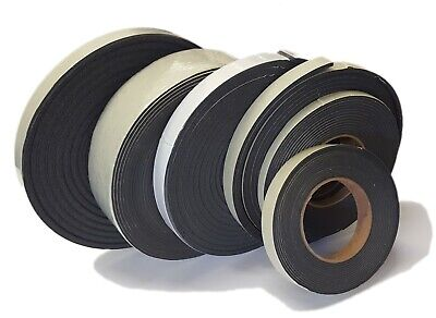 Black Single Sided Adhesive Foam Tape Closed Cell Draught Excluder Door / Window