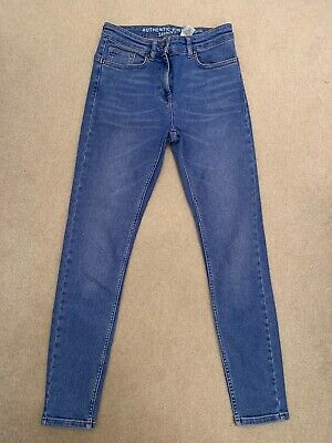 Women's Nwot Mid High Rise Next Vintage Skinny Mid Blue Jeans 10 Regular