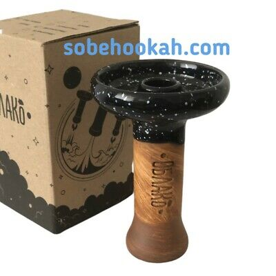 Bowl head Cloud Phunnel Large Glaze Black Oblako hookah, shisha, Water Pipe