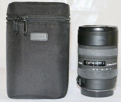 Sigma 8-16mm f/4.5-5.6 DC HSM Lens for Canon EF  9+ In Case GREAT