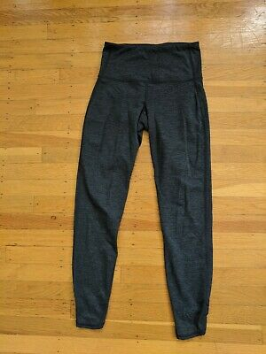 old navy active heather navy yoga leggings size small