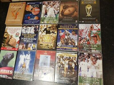 JOB LOT Sports DVDS Rugby,Gold,Cricket,Sprint&Field,Nature,Classical 🏏🏈🏆