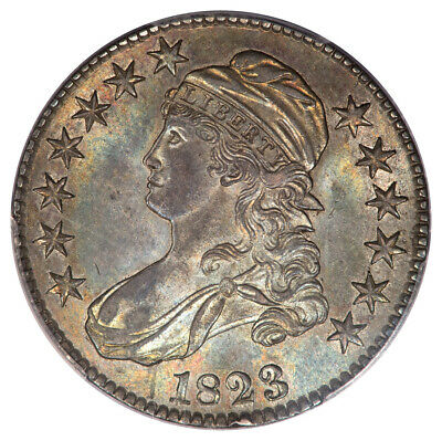 1823 50C Capped Bust Half Dollar PCGS MS63 O-112
